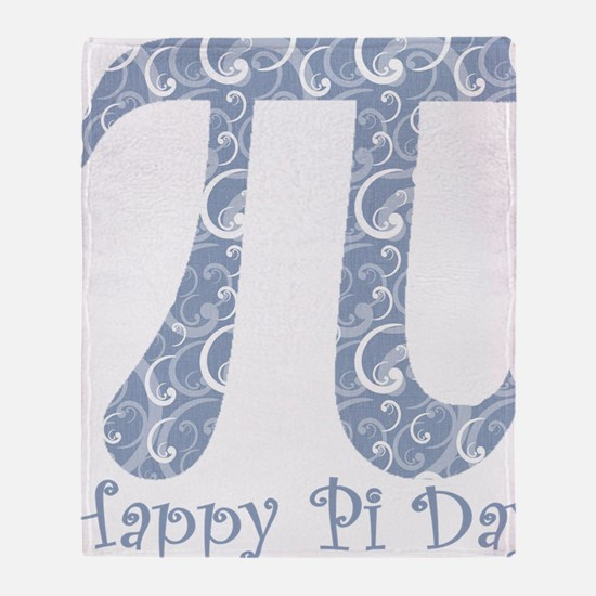 Chambray Swirls Pi Day Throw Blanket