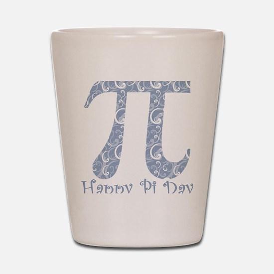 Chambray Swirls Pi Day Shot Glass