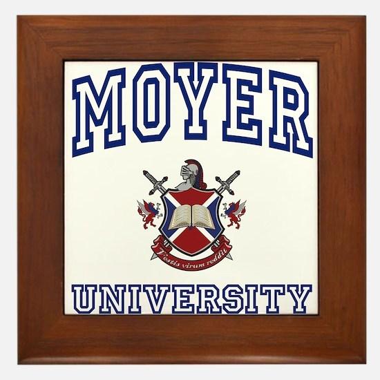 MOYER University Framed Tile