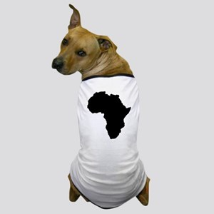 Shape map of AFRICA Dog T-Shirt