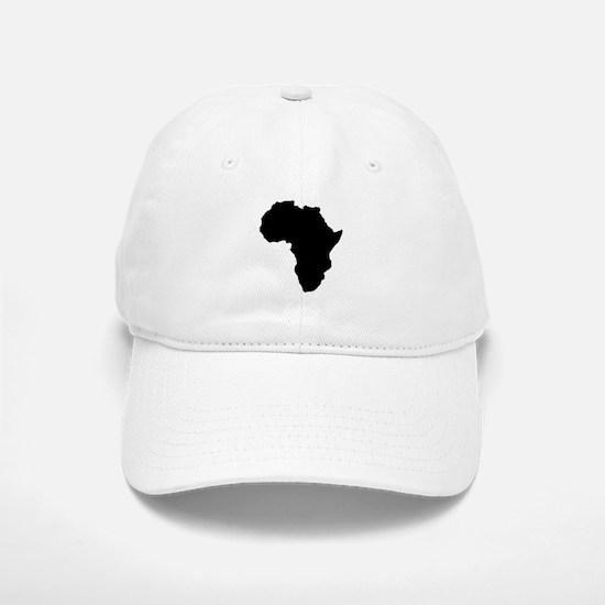 Shape map of AFRICA Baseball Baseball Cap
