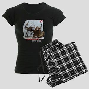 Canadians Kick Ass Women's Dark Pajamas