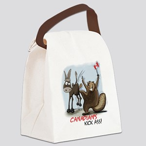 Canadians Kick Ass Canvas Lunch Bag