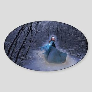 Winter Queen Sticker (Oval)