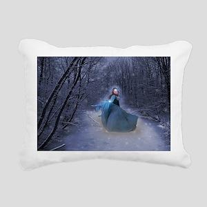 Winter Queen Rectangular Canvas Pillow