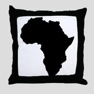 Shape map of AFRICA Throw Pillow
