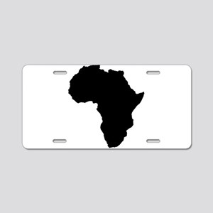 Shape map of AFRICA Aluminum License Plate