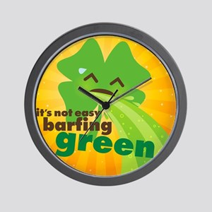 Not Easy Barfing Green Wall Clock