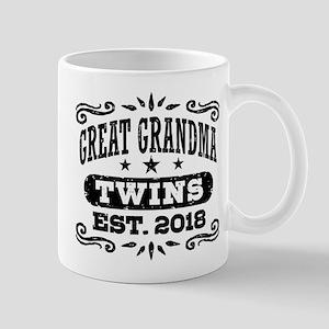 Great Grandma Twins Est. 2018 11 oz Ceramic Mug