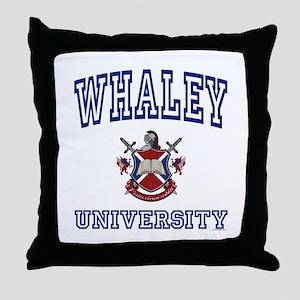 WHALEY University Throw Pillow
