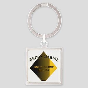 Recon Marine Square Keychain