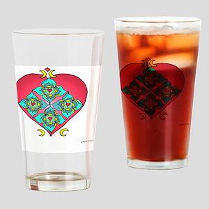 Shielded Heart 10x10_all Drinking Glass