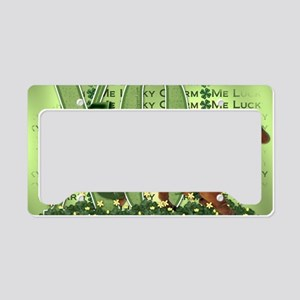 Doxie_Lucky_Charm5x7 License Plate Holder