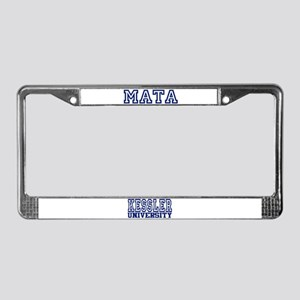 MATA University License Plate Frame