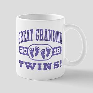 Great Grandma 2018 Twins 11 oz Ceramic Mug