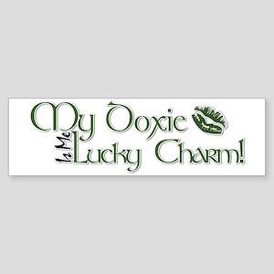 Doxie_Lucky_Charm Sticker (Bumper)