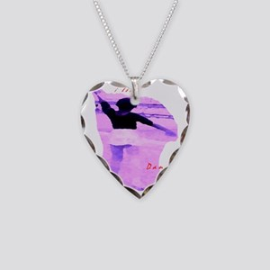 Ballet girl4 Necklace Heart Charm