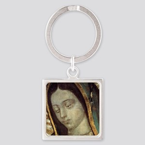 Our Lady of Guadalupe - close up Square Keychain