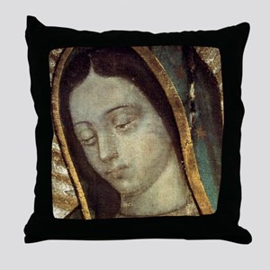 Our Lady of Guadalupe - close up Throw Pillow