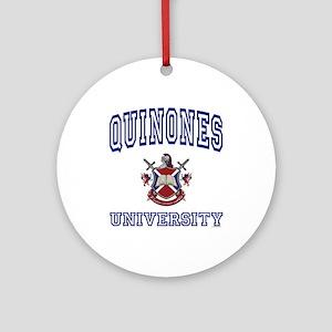 QUINONES University Ornament (Round)
