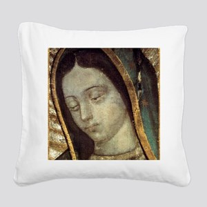 Our Lady of Guadalupe - close Square Canvas Pillow