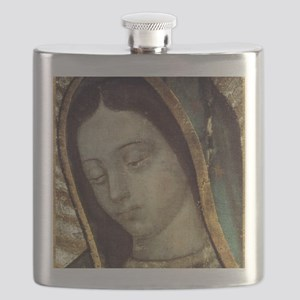Our Lady of Guadalupe - close up Flask