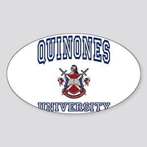 QUINONES University Oval Sticker