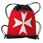 White Maltese Cross Drawstring Bag