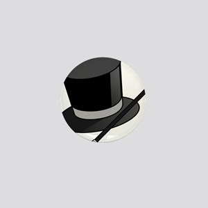 Magician Hat and Wand Mini Button