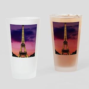 eiffel tower night lights Drinking Glass