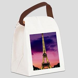 eiffel tower night lights Canvas Lunch Bag