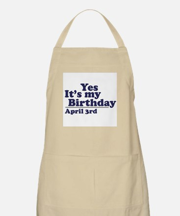 April 3 Birthday BBQ Apron