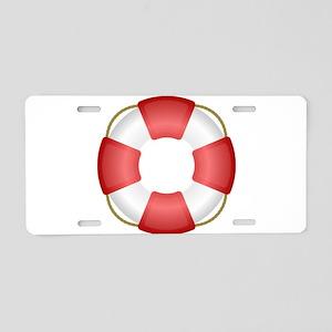 Life Preserver Aluminum License Plate