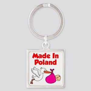 Made in Poland Baby Girl Shirt Square Keychain