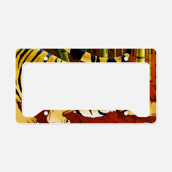 tigerbamboo11x17 posters License Plate Holder