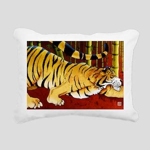 tigerbamboo11x17 posters Rectangular Canvas Pillow