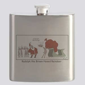 Brown Nosed Reindeer Flask