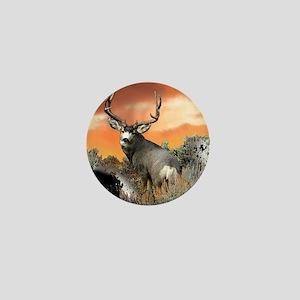 Trophy buck sunset Mini Button