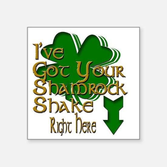 "2-shamrock Square Sticker 3"" x 3"""