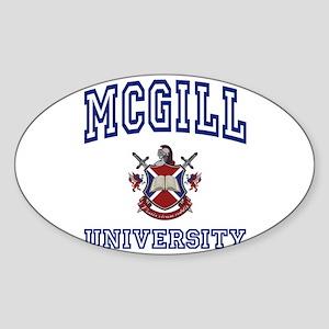MCGILL University Oval Sticker
