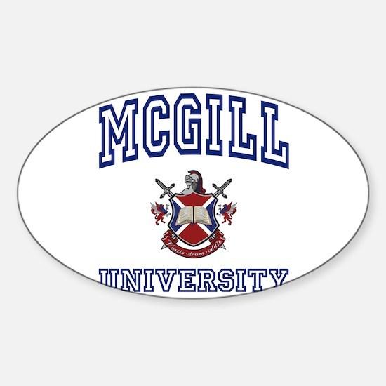 MCGILL University Oval Decal