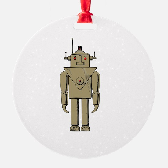 Robot Apocalypse White Ornament