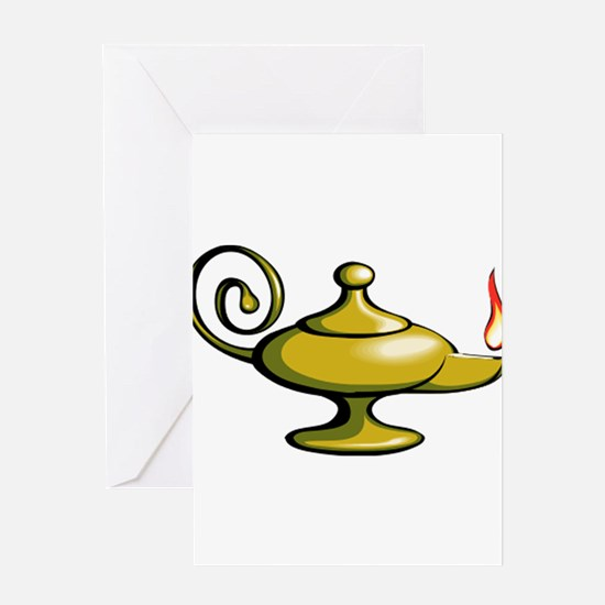 Genie Lantern Greeting Cards