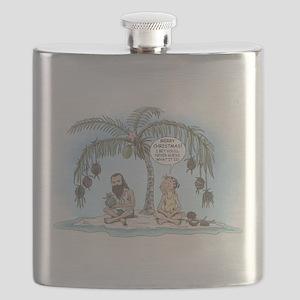 Island Christmas Gift Flask