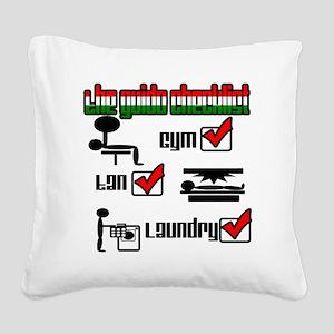 checklist Square Canvas Pillow