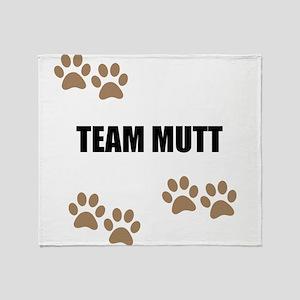 Team Mutt Throw Blanket