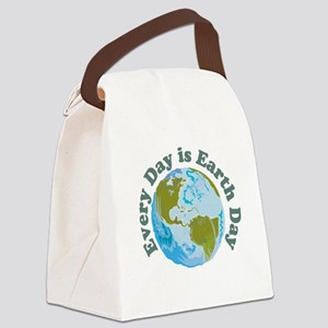 Earth_Button Canvas Lunch Bag