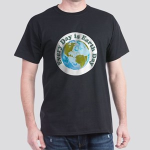 Earth_Button Dark T-Shirt