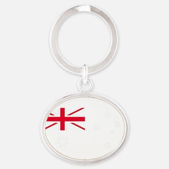 AU_Blue Oval Keychain