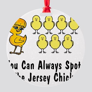 jersey chick2 Round Ornament